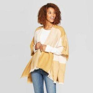 Jackets & Blazers - Women's Cozy Check Ruana Kimono Jacket